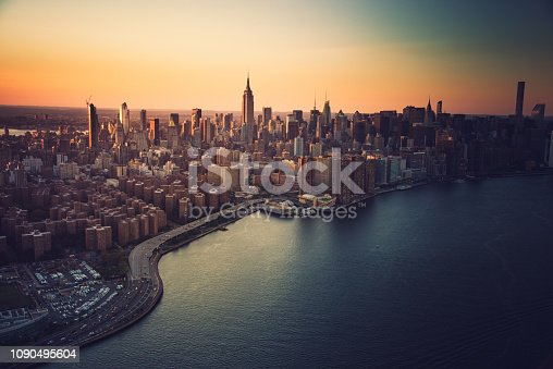 aerial view of manhattan city