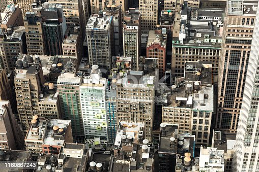 947373704 istock photo Aerial view of Manhattan from the Empire State Building 1160867243
