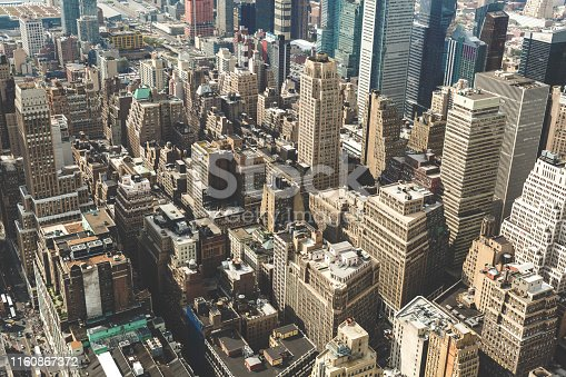 947373704 istock photo Aerial view of Manhattan from the Empire State Building 1160867372