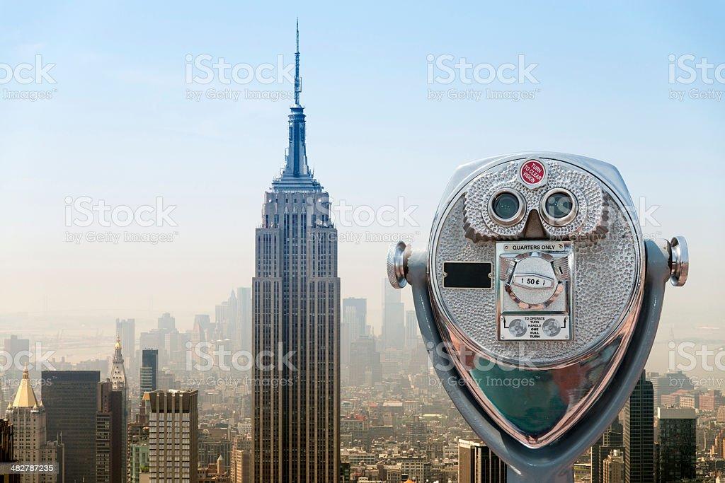 Aerial view of Manhattan New York City stock photo