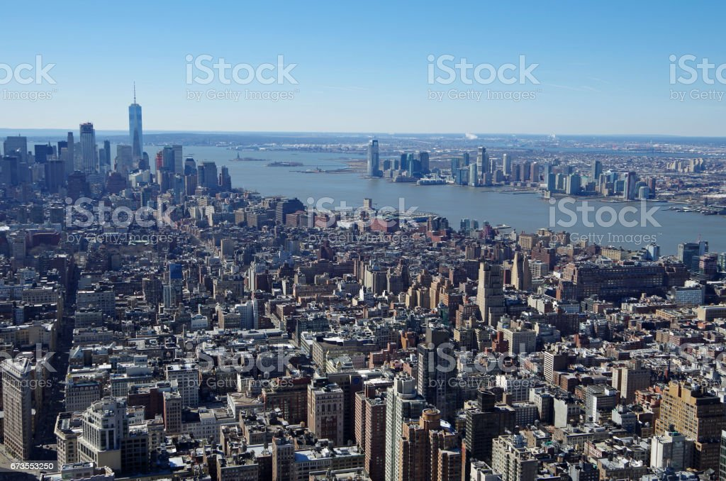 Aerial view of Manhattan, New York City. USA. royalty-free stock photo