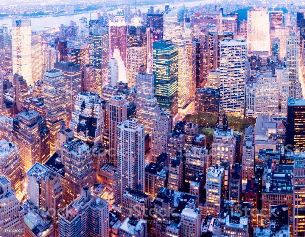 Aerial view of Manhattan, New York  royalty-free stock photo