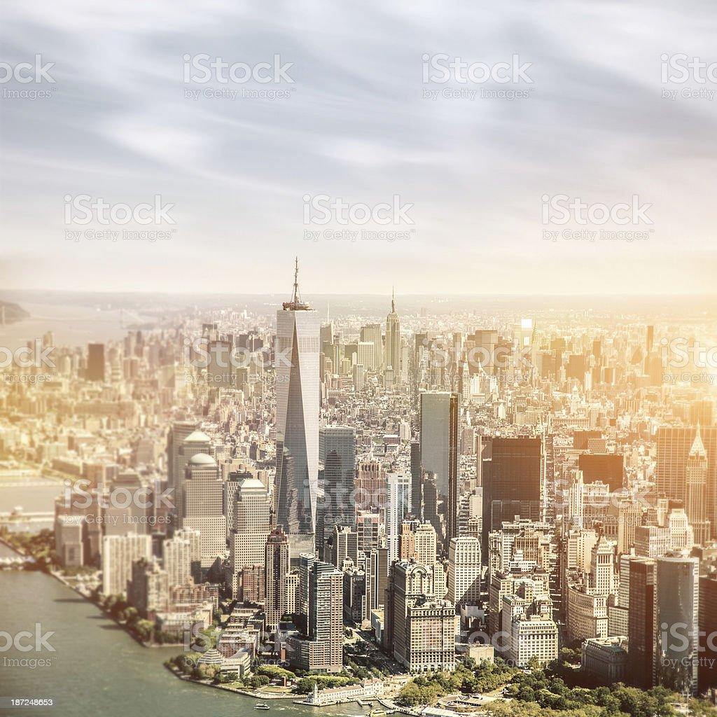 Aerial view of Manhattan - New York royalty-free stock photo