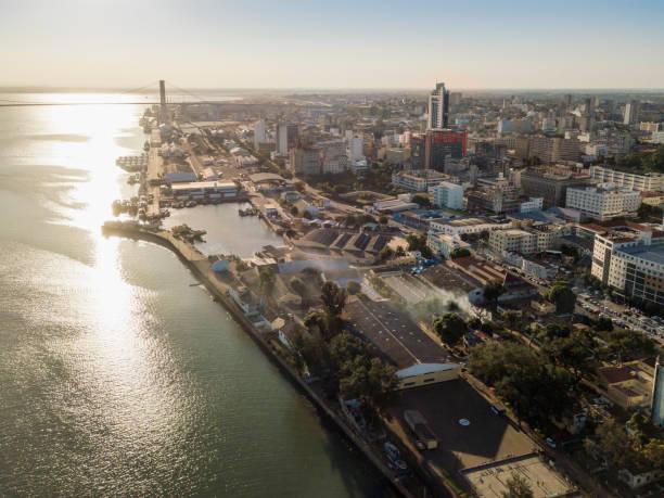 Luftaufnahme von Maputo, Hauptstadt von Mosambik, Afrika – Foto