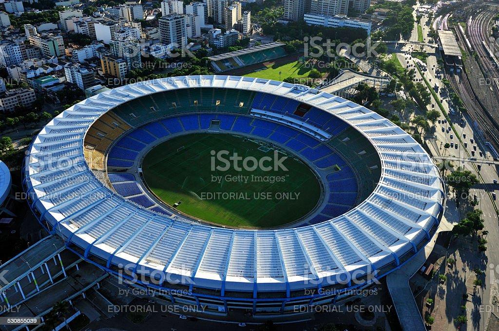 空から見た Maraca スタジアム、リオデジャネイロ ストックフォト