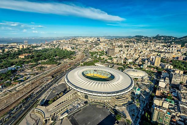 Aerial view of Maracana Stadium in Rio de Janeiro stock photo