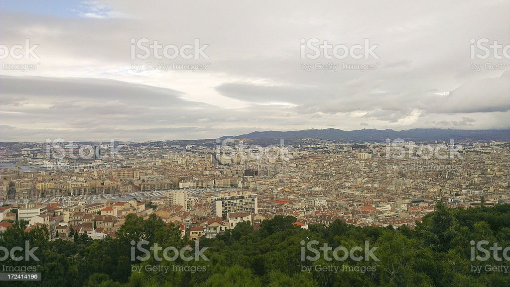 Aerial view of Marseilles, France royalty-free stock photo