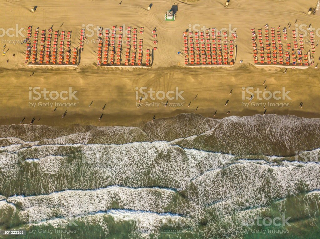 Aerial view of Maspalomas beach, Playa del Ingles, Maspalomas, Spain. royalty-free stock photo