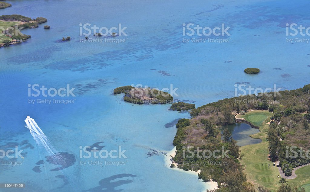 Aerial view of Mauritius royalty-free stock photo