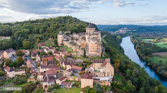 istock aerial view of medieval town in dordogne, France 1290053040