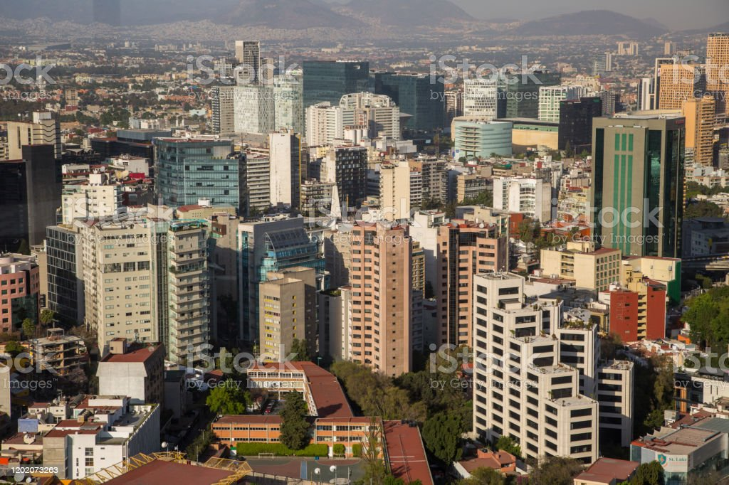 Luchtfoto van Mexico-Stad - Royalty-free Architectuur Stockfoto