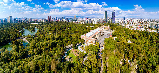 Aerial View of Mexico City skyline from Chapultepec Park – Foto