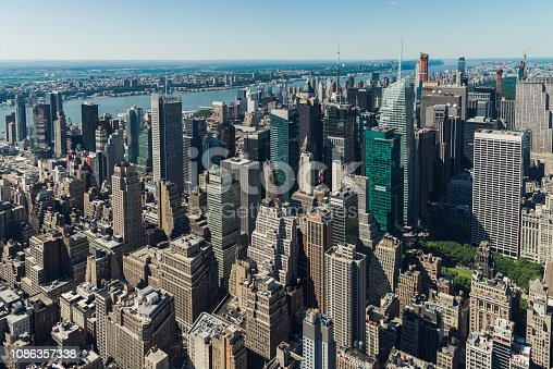 947373704 istock photo Aerial View of Midtown Manhattan, NYC 1086357338