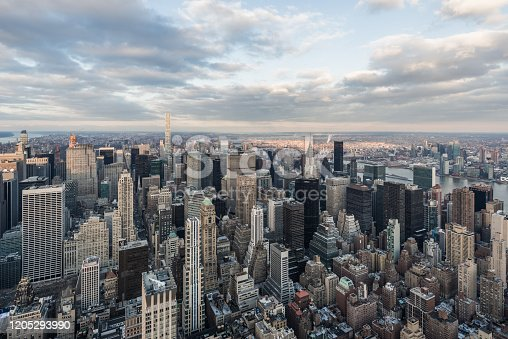 947373704 istock photo Aerial View of Midtown Manhattan / NYC 1205293990