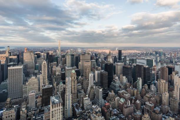 Aerial View of Midtown Manhattan / NYC stock photo