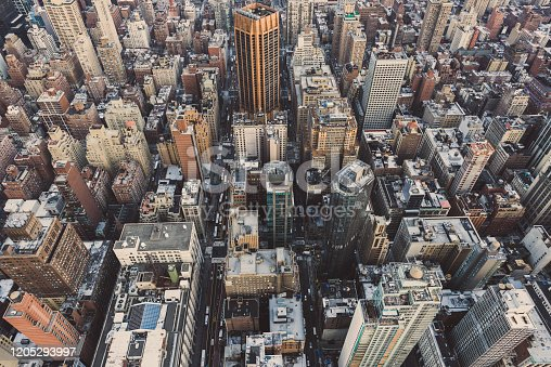 947373704 istock photo Aerial View of Midtown Manhattan / NYC 1205293997