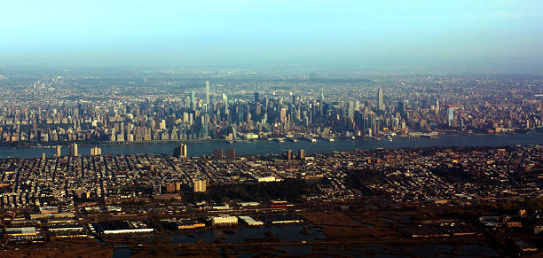 Aerial View of Mid-town Manhattan