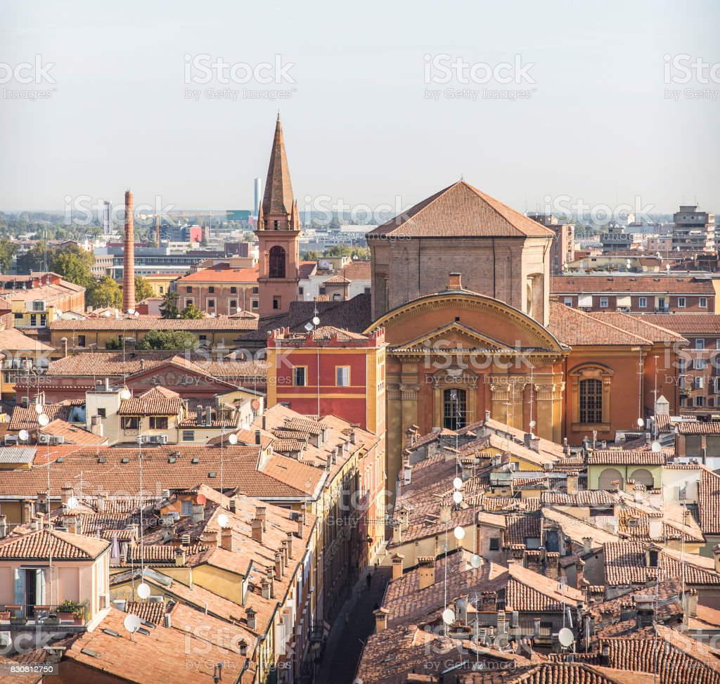 Aerial view of Modena, Italy stock photo