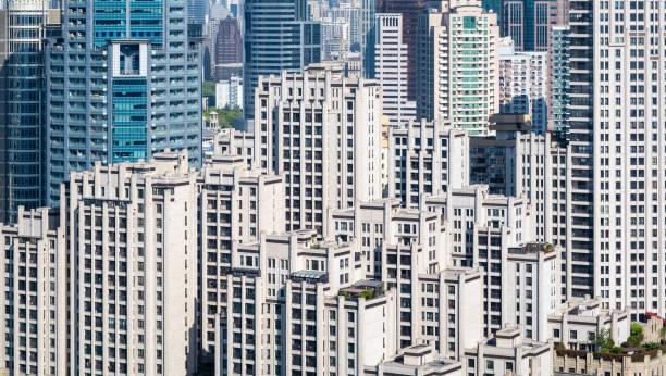 Luftaufnahme der moderne Wohnarchitektur – Foto