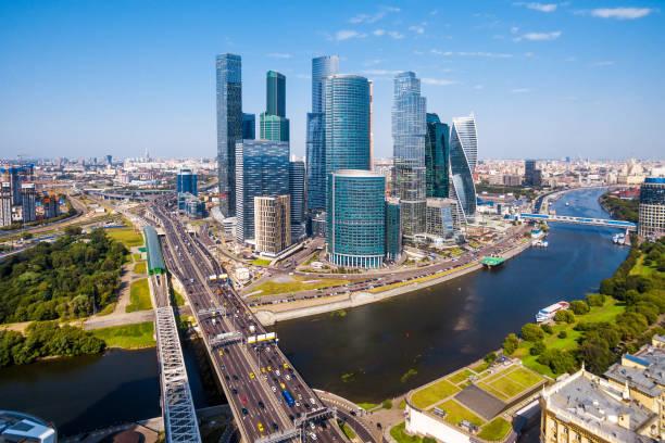 vista aérea de moscou - moscovo - fotografias e filmes do acervo