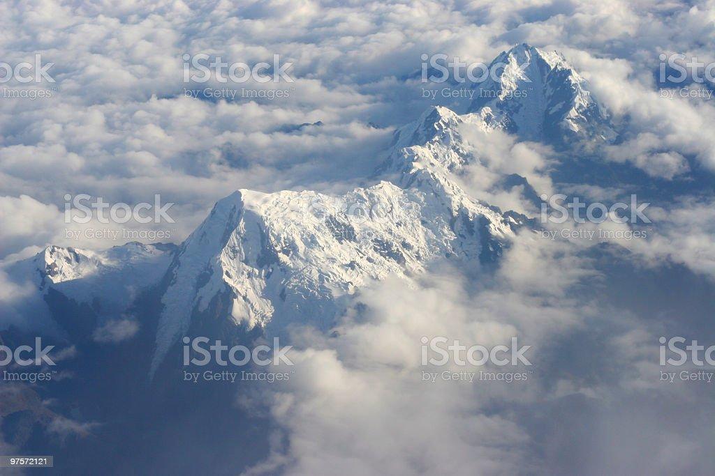 Vue aérienne de la montagne photo libre de droits