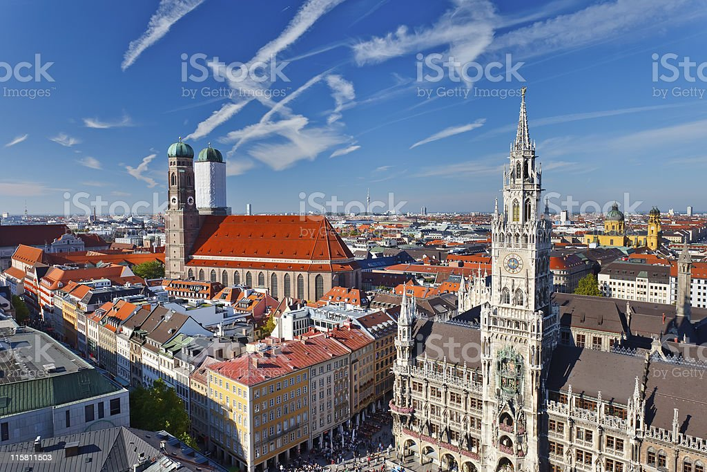 Aerial view of Munchen royalty-free stock photo