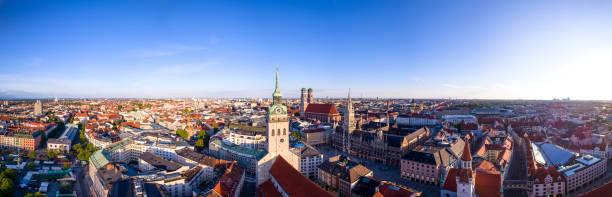 flygfoto över münchen, tyskland - marienplatz bildbanksfoton och bilder