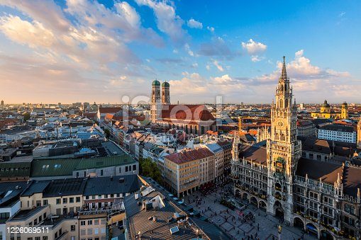 istock Aerial view of Munich, Germany 1226069511