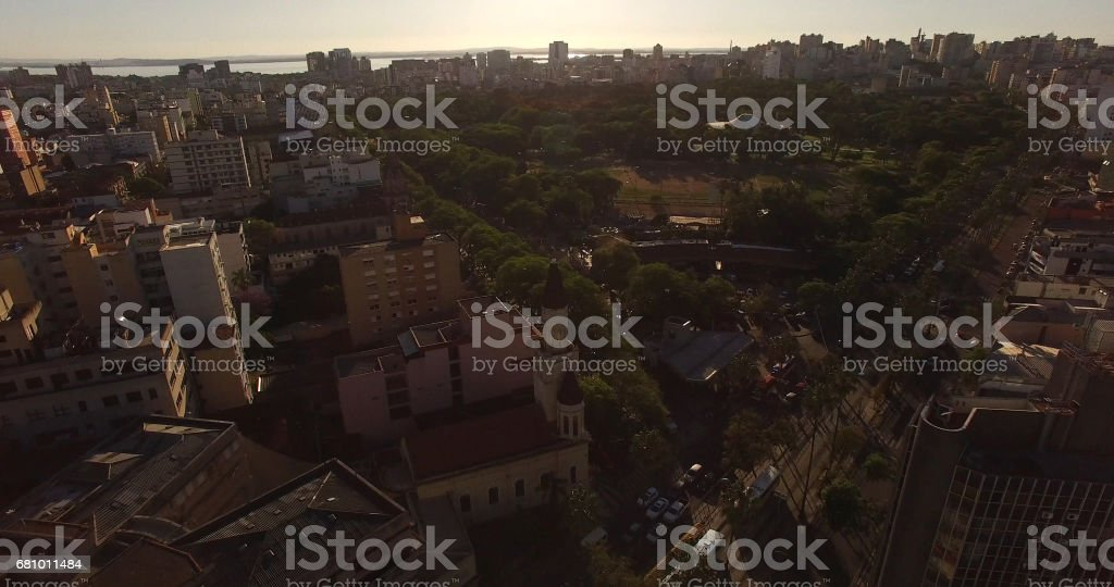 Aerial View of Nassau Downtown, Bahamas royalty-free stock photo
