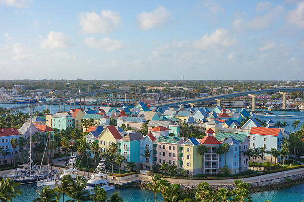 aerial view of nassau - nassau new providence stockfoto's en -beelden