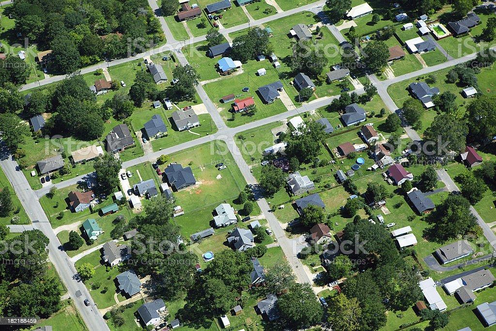Aerial View of Neighborhood royalty-free stock photo