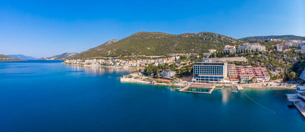 Aerial view of Neum in Bosnia stock photo