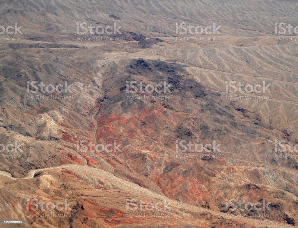 Aerial view of Nevada dessert stock photo