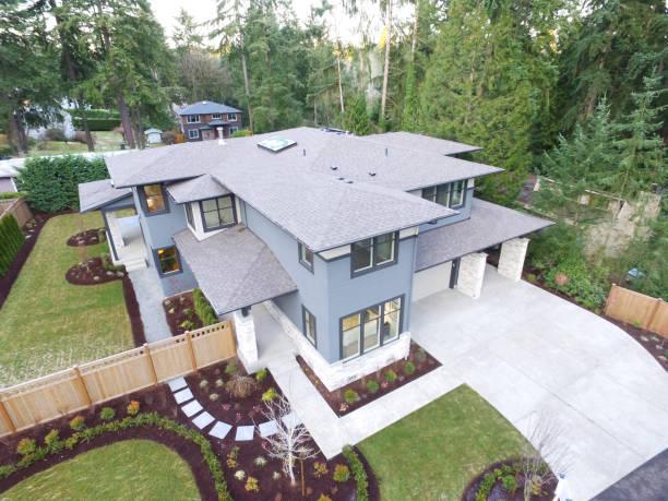Luftaufnahme des Neubauhaus – Foto