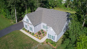istock Aerial view of new house in rural area 1280242112