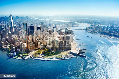 istock Aerial view of New York City 187336602