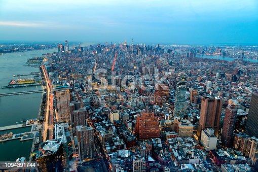 istock Aerial View of New York City Skyline 1094391744