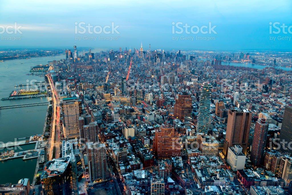 Luftaufnahme der Skyline von New York City – Foto
