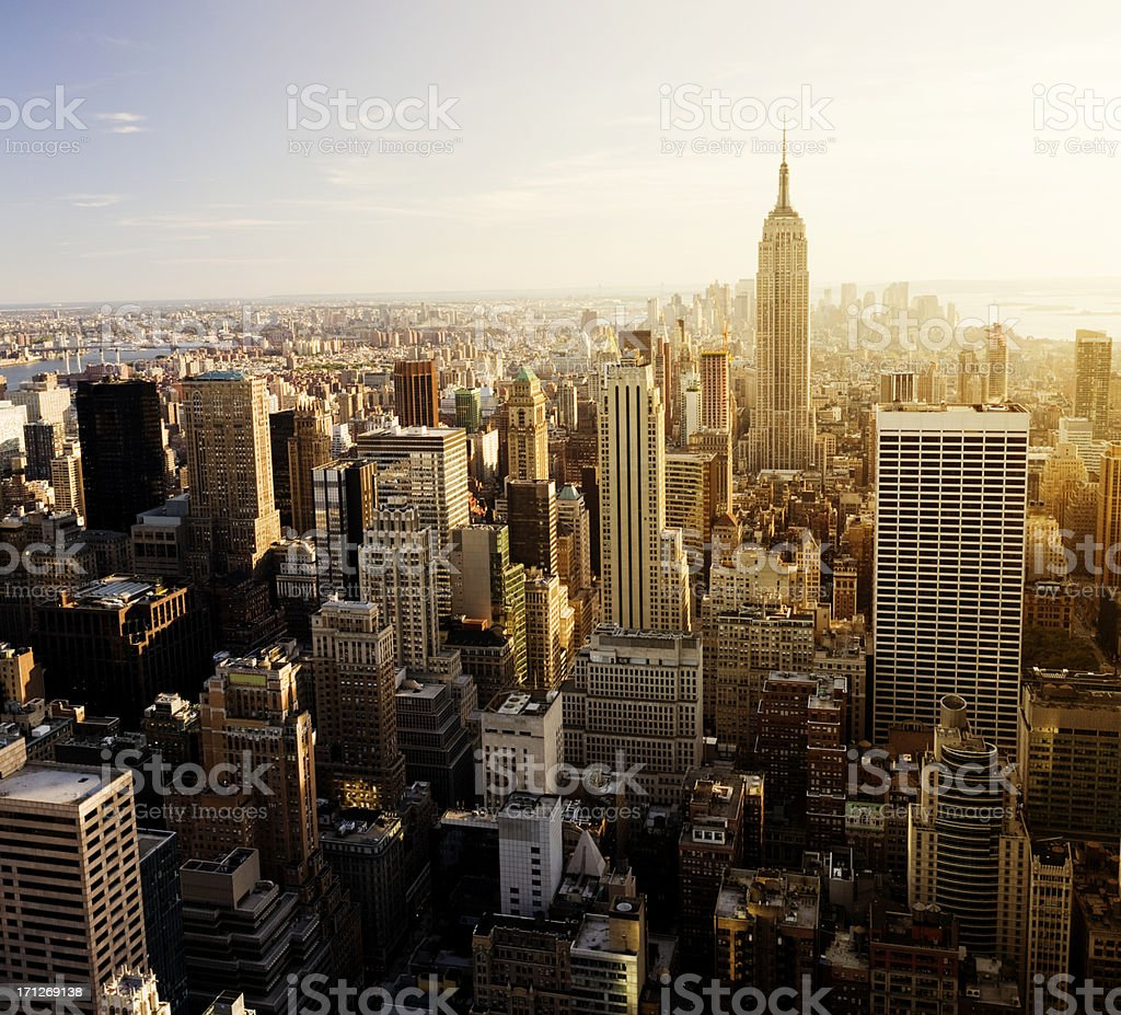 Aerial View of New York City Skyline USA royalty-free stock photo