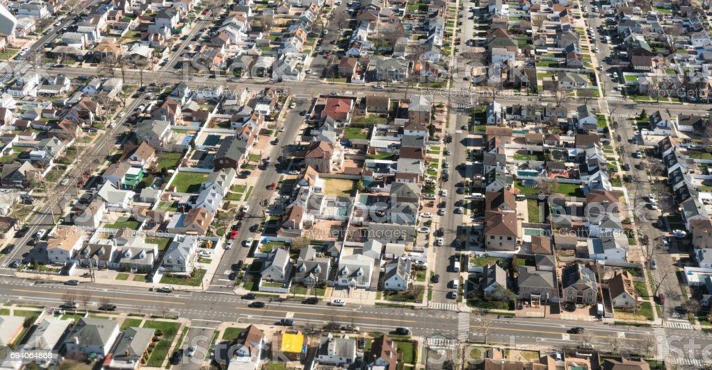 Aerial View of New York City Vororte – Foto