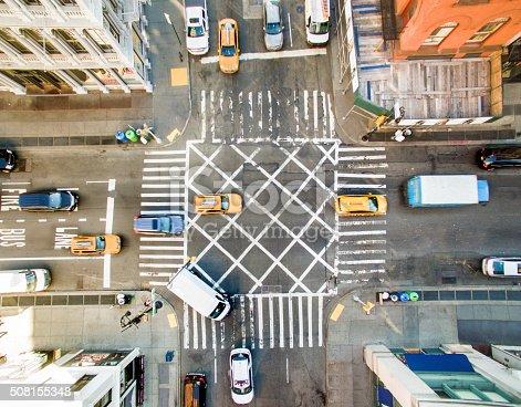 507831914 istock photo Aerial view of new york street 508155348