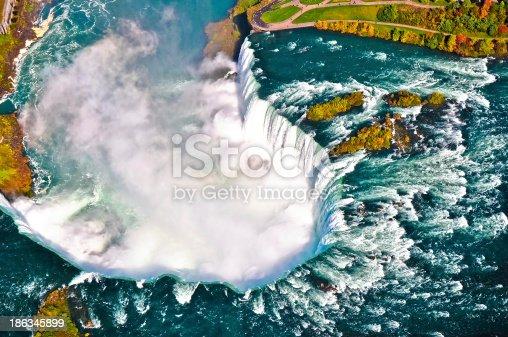 Aerial view of Niagara waterfall