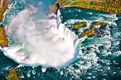 Aerial view of Niagara waterfall