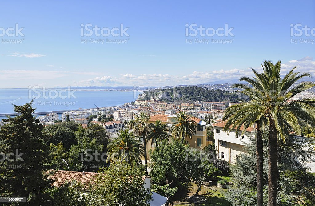 Aerial view of Nice, France royalty-free stock photo
