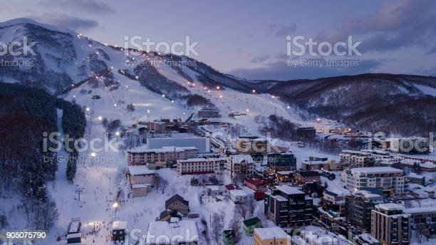 Aerial view of niseko ski village picture id905075790?b=1&k=6&m=905075790&s=612x612&h=a5menajsk mx8fv jrcowd g708ramjgy81hcvdecdg=