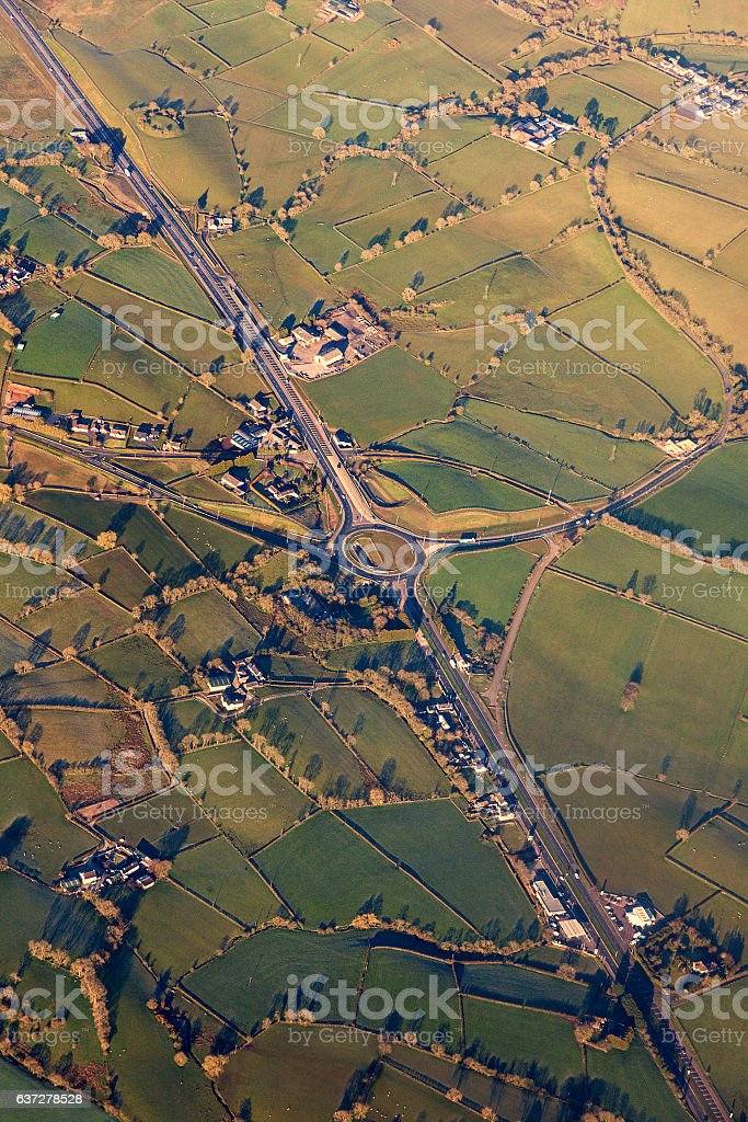 Aerial view of Northern Ireland stock photo