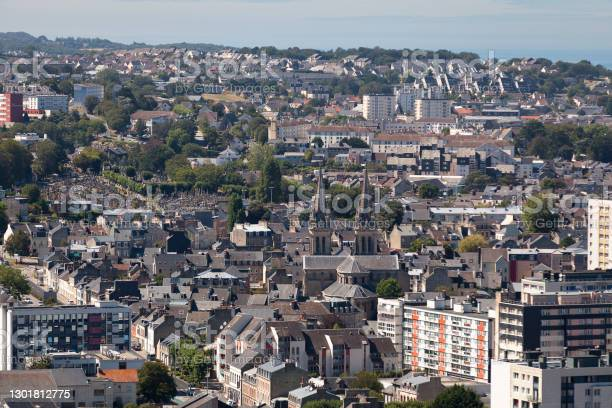 Aerial View Of Notredameduvoeu Church In Cherbourgencotentin Stock Photo - Download Image Now