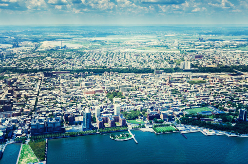 Aerial View Of Nyc Stock Photo - Download Image Now