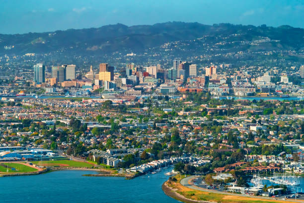 Aerial view of Oakland, CA