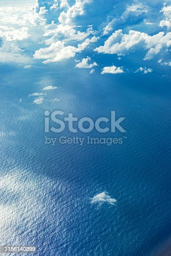 Aerial View of Ocean, Maldives